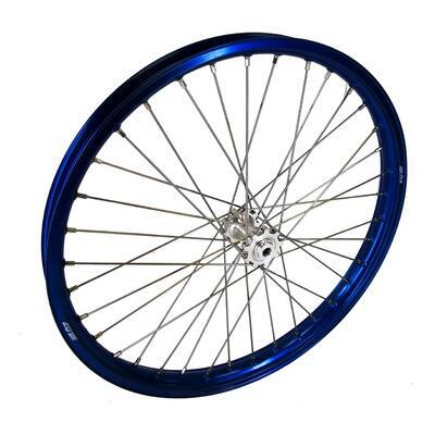 Front wheel Blue Silver SMPro assembled, Silver